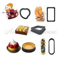 8pcs roundovalheartsquarerectangle tart ring diy french dessert cake mold cake decorating tools kitchen baking accessories