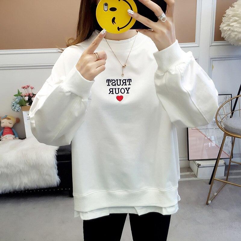 مطبوعة Sweatershirt الخريف والشتاء المرأة Sweatershirt رداء علوي غير رسمي امرأة هوديس أسود