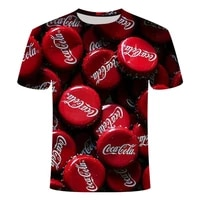 summer mens and womens fashion t shirts new cola beer bottle elements gothic short sleeve street hip hop fun costumes