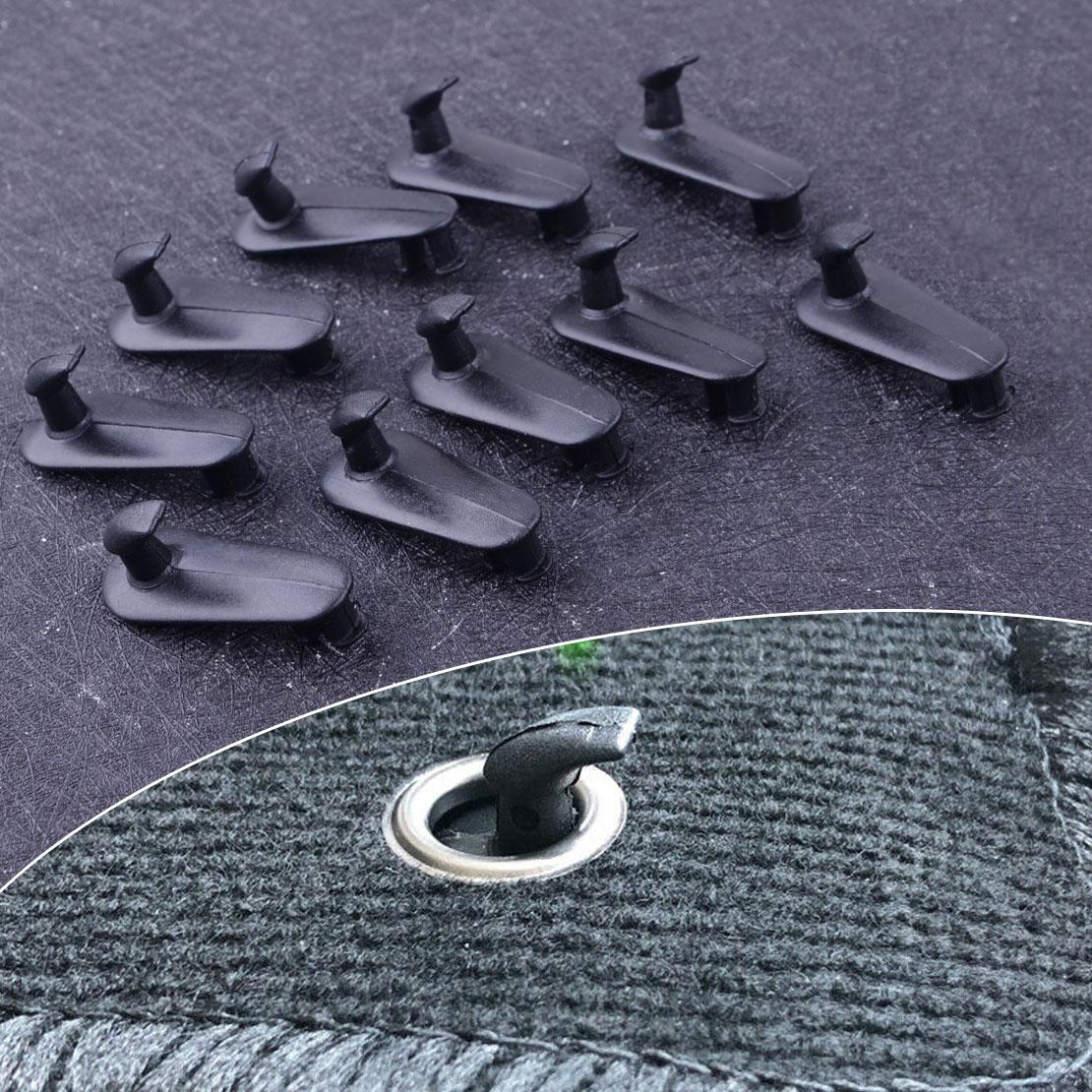 CITALL 10 Uds negro de plástico del coche de piso fijación ganchos con Clips de retención mantener retenedor de Toyota 4 Runner Camry RAV4