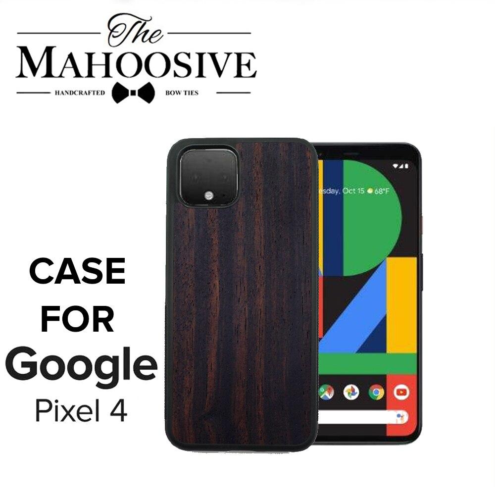Caixa do telefone de madeira enbony para google pixel 2 3 3a 4 xl cristal silicone macio coque para google pixel xl 2 pixel3 capa de madeira
