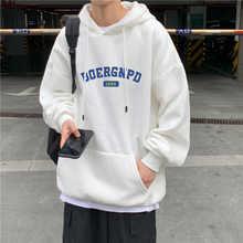 Новинка зимняя Модная брендовая Вельветовая Толстовка Ins с капюшоном мужской свободный Модный Универсальный пуловер для отдыха пары Топы