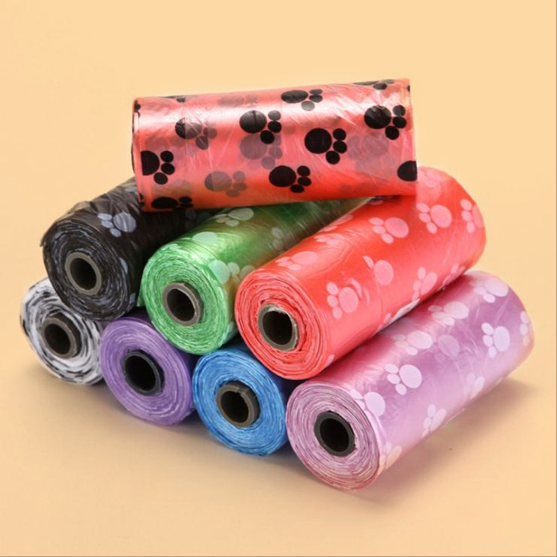 50 100 Rolls Dog Poop Bag Degradable Plastic Pet Bags For Cat Toilet Clean Up Outdoor Waste Garbage Cleaning