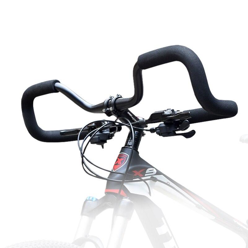 Guidão de bicicleta de montanha 31.8*620mm de alumínio estrada guidão resto longa distância da bicicleta guidão