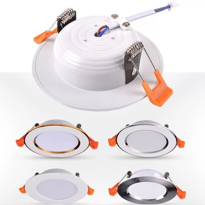LED Downlight 220V Spot LED downlight Dimmable 5W 7W 9W 12W 15W Recessed in LED Ceiling Downlight Li