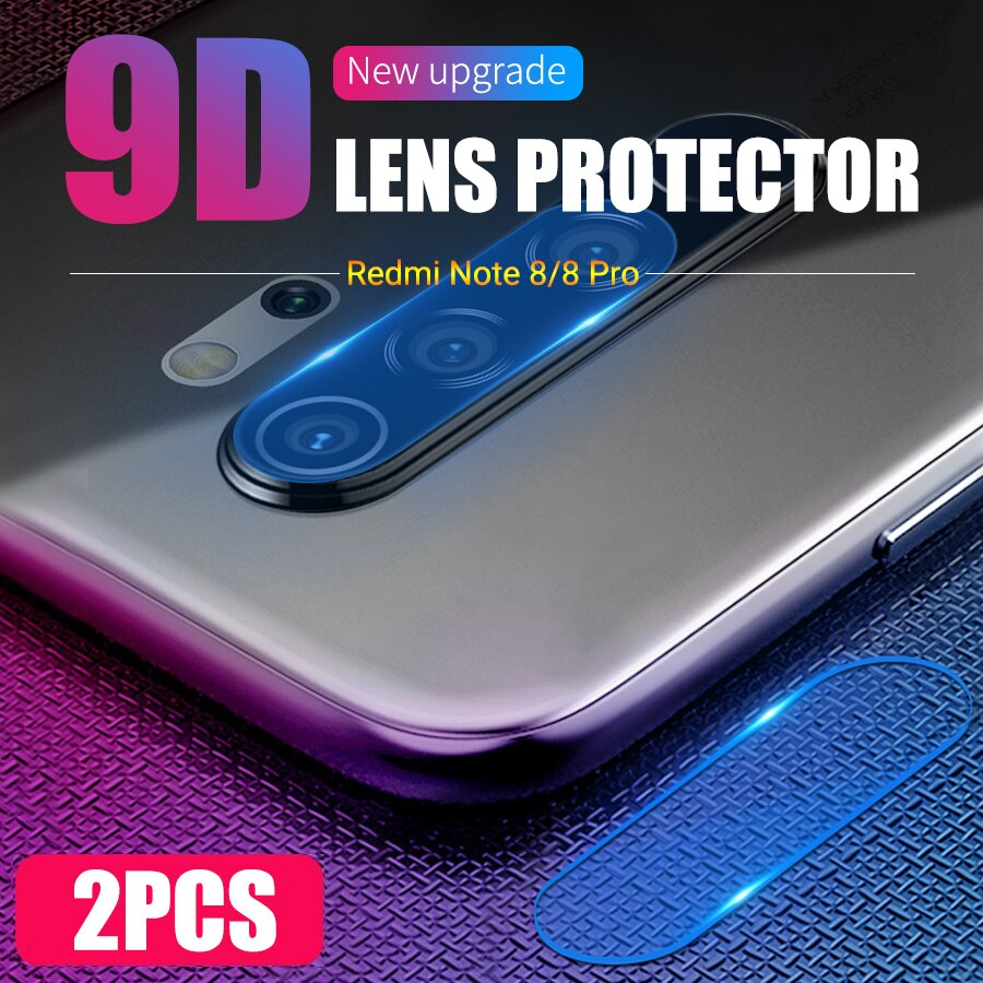 2 piezas de lente de cámara trasera de vidrio templado para Xiaomi Mi Redmi Note 8 Pro 6 6A 7 7A Mix 3 Black Shark 2 Helo Protector