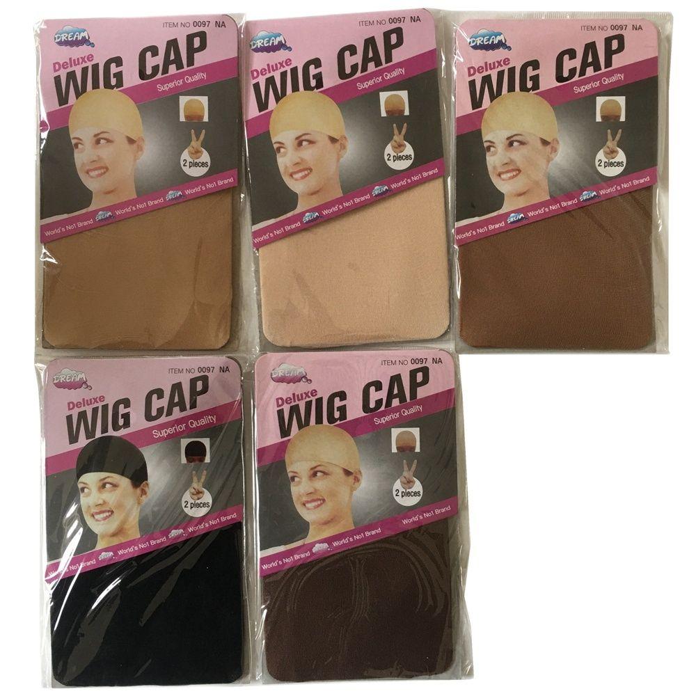 20 stück (10 packs) Perücke Kappe Perücke Netze Stretch Mesh Snood Haar Net Dark Beige Perücke Caps
