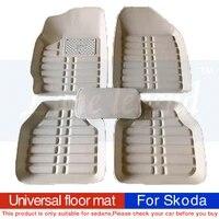 universal car floor mat for skoda all models octavia fabia superb kodiaq rapid yeti car styling auto accessories
