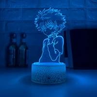 3d led night lamp anime hunter x hunter for kids child bedroom decor nightlight dropshipping manga gift night light
