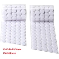 500pairs self adhesive dots round velcros nylon hook and loop fastener tape sticky back coins with high viscocity glue 10 30mm