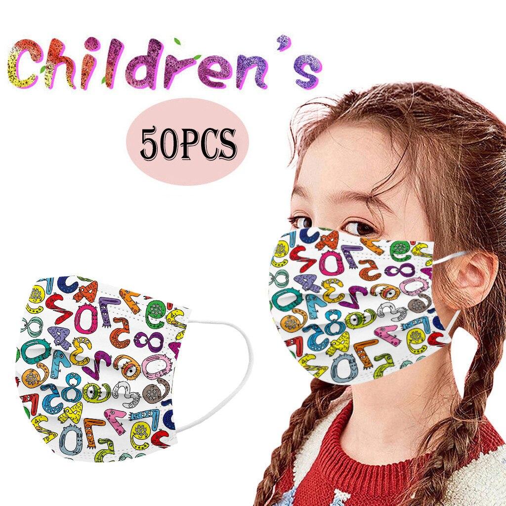 Mascarillas desechables de dibujos animados para niños, máscaras de 3 capas con...