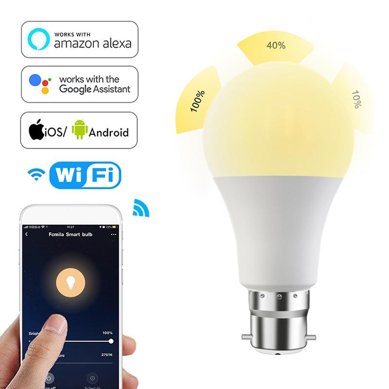 WI-FI смарт-лампы в виде дома светильник ing Лампа 15 Вт E27 B22 RGB + W LED Изменение Цвет светильник накаливания с регулируемой яркостью голос Управление Alexa Google таймер
