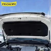 for toyota land cruiser prado 2010 2017 car heat sound insulation cotton front hood engine firewall mat pad cover noise deadener
