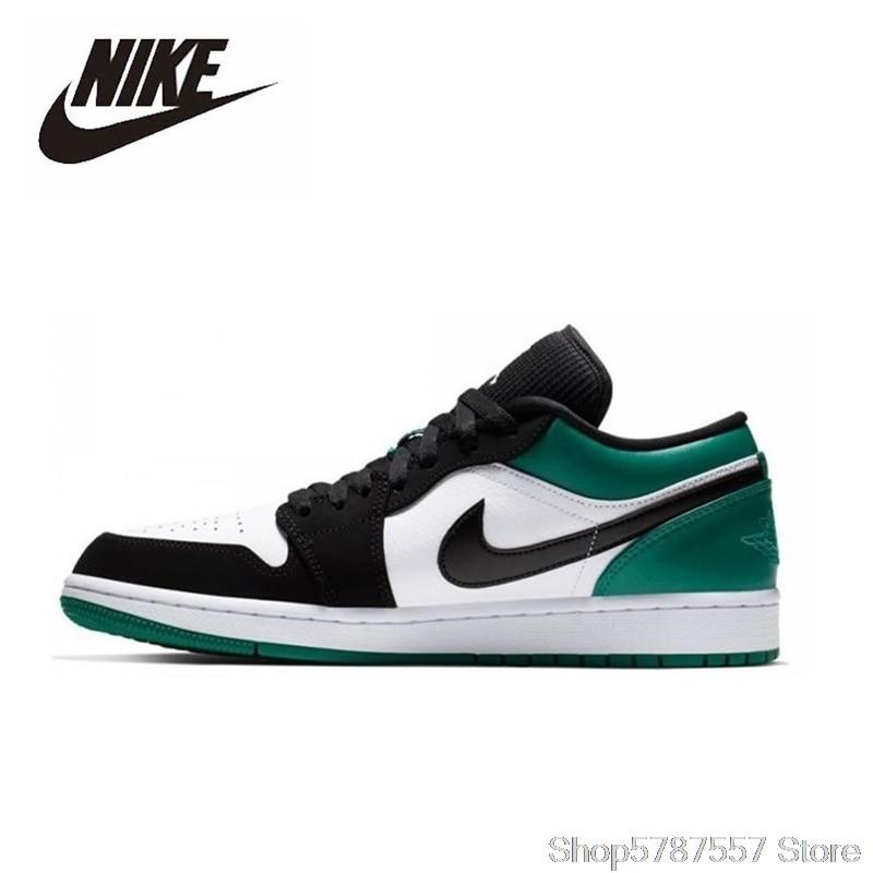 Nike Air Jordan 1 Low Basketball Shoes Mens Basketball Sneakers Unisex Women Breathable Outdoor 553558-113