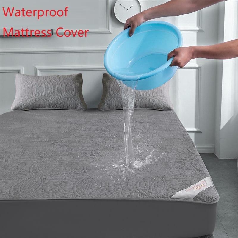 سوبر مرتبة مبطنة مقاومة للماء غطاء مرتبة الهواء نفاذية السرير بطانة واقية غطاء الملكة فراش توبر لا بما في ذلك المخدة