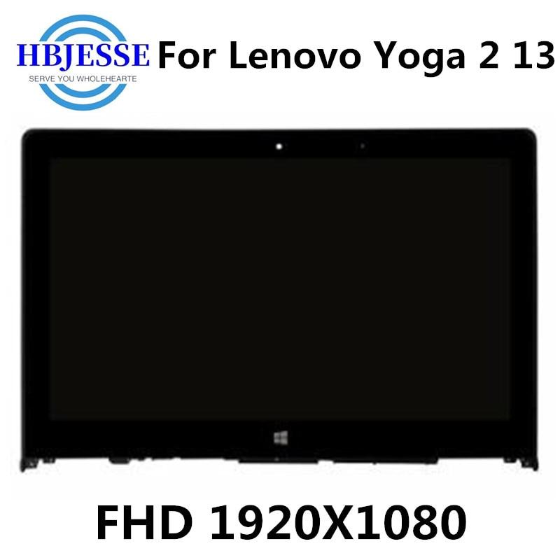 13,3 LCD Touch Digitizer pantalla montaje B133HAN02.0 LP133WF2 SPA1 para Lenovo Yoga 2 13 yoga 2 13 montaje de pantalla LCD con marco