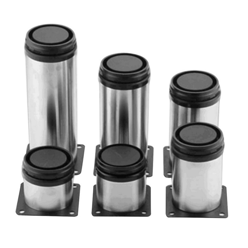 4Pcs Stainless Steel Adjustable Sofa Foot Cabinet Foot Bed Foot for Kitchen Home Furniture Legs Hard