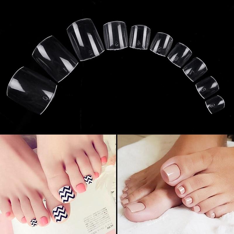 500 шт./пакет, накладные ногти на носках, прозрачные белые, полностью закрытые, быстросохнущие насадки для наращивания ногтей, инструменты для наращивания пальцев