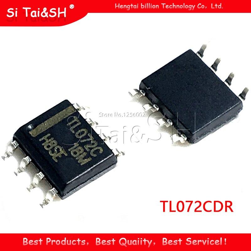 10 Uds TL072CDR SOP-8 TL072CD TL072C TL072 de baja potencia amplificador operacional chip