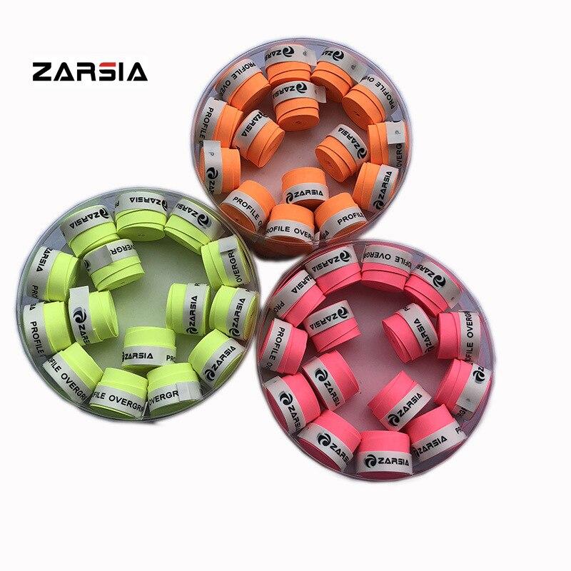 Флуоресцентная серия, матовая Теннисная ракетка ZARSIA Overgrip, сквош, ракетка для бадминтона, Абсорбирующая лента, 10 шт./лот, клей для рук