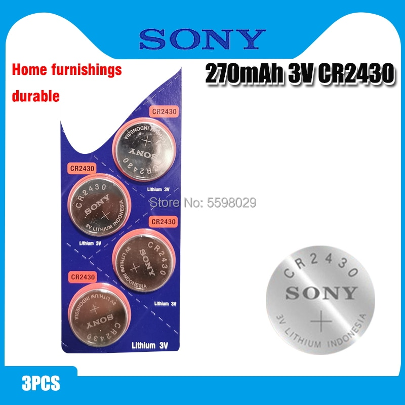 3 uds Original Sony CR2430 CR 2430 pilas de botón DL2430 BR2430 KL2430 3V batería de litio para reloj de juguete audífonos