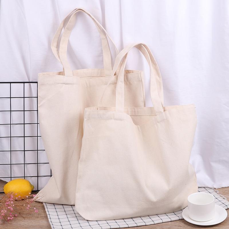 Canvas Shopping Bag Foldable Tote Shoulder Travel Beach Casual Bag Eco-friendly
