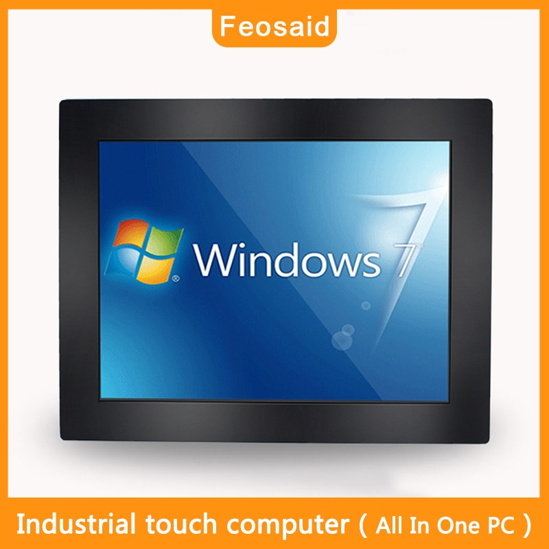 Embedded Resistive screen touch 12.1'' core i3i5i7all in one pc  with Wall-mounted bracket mounting   industrial touch panel pc