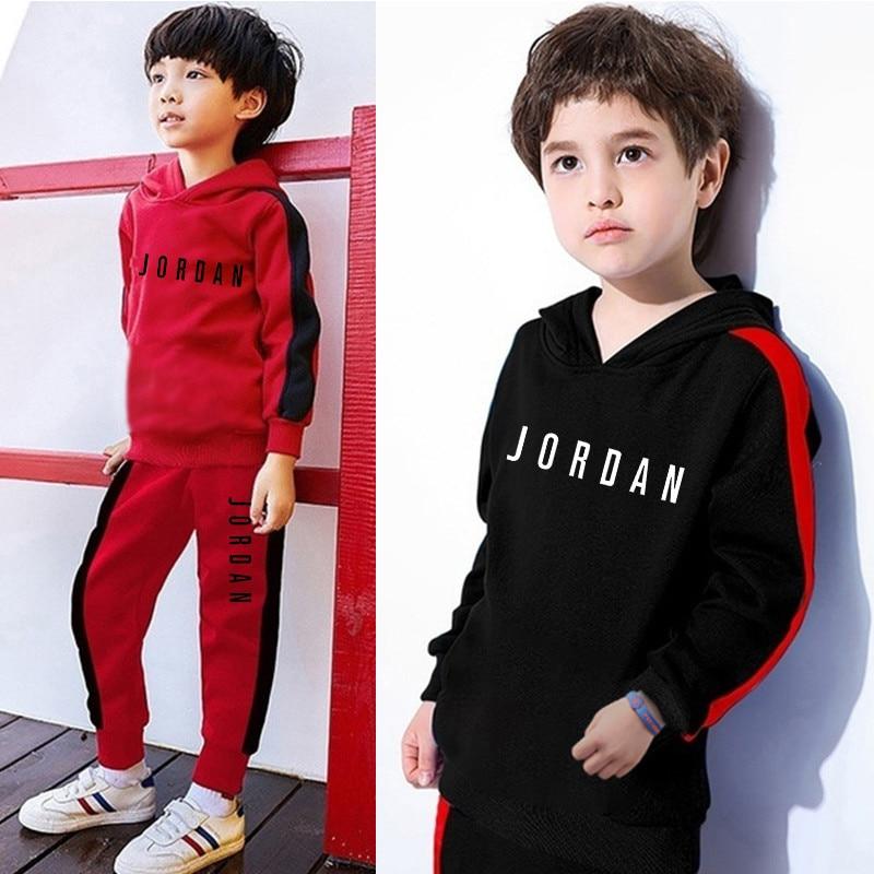 Autumn Winter Children's Clothing 2 piece set Boys Girls Clothes Unisex Tracksuits Sweatshirt Kids Outfit Suit Hoodie+Pant Sets
