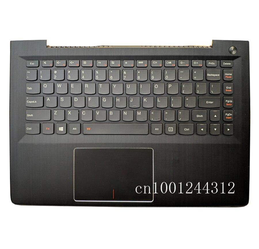 جديد الأصلي لينوفو Ideapad 500S-13ISK 300S-13ISK U31-70 palmrest حالة العلوي غطاء مع لوحة المفاتيح لوحة اللمس NBX0001RC00