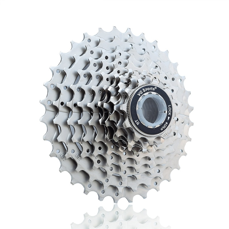 Vg Sports 11-32T Cassette de bicicleta de carretera 10 velocidades piñón libre 10 S bicicleta rueda libre Cog velocidad Cdg ultraligero-11-32T