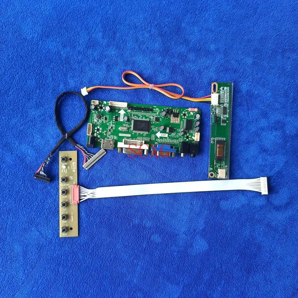 1024*768 عدة ل QD15XL01/QD15XL04/QD15XL06/QD15XL09 مصفوفة م. NT68676 لوحة تحكم 30 دبوس LVDS 1CCFL HDMI-متوافق VGA DVI