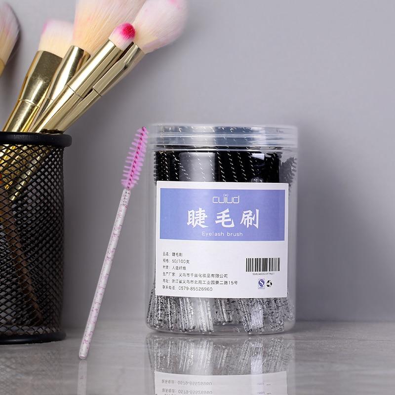 Barreled Eyebrow Brush Sweep Eyebrow Portable Makeup Professional Disposable Elbow Eyelash Brush Very Fine