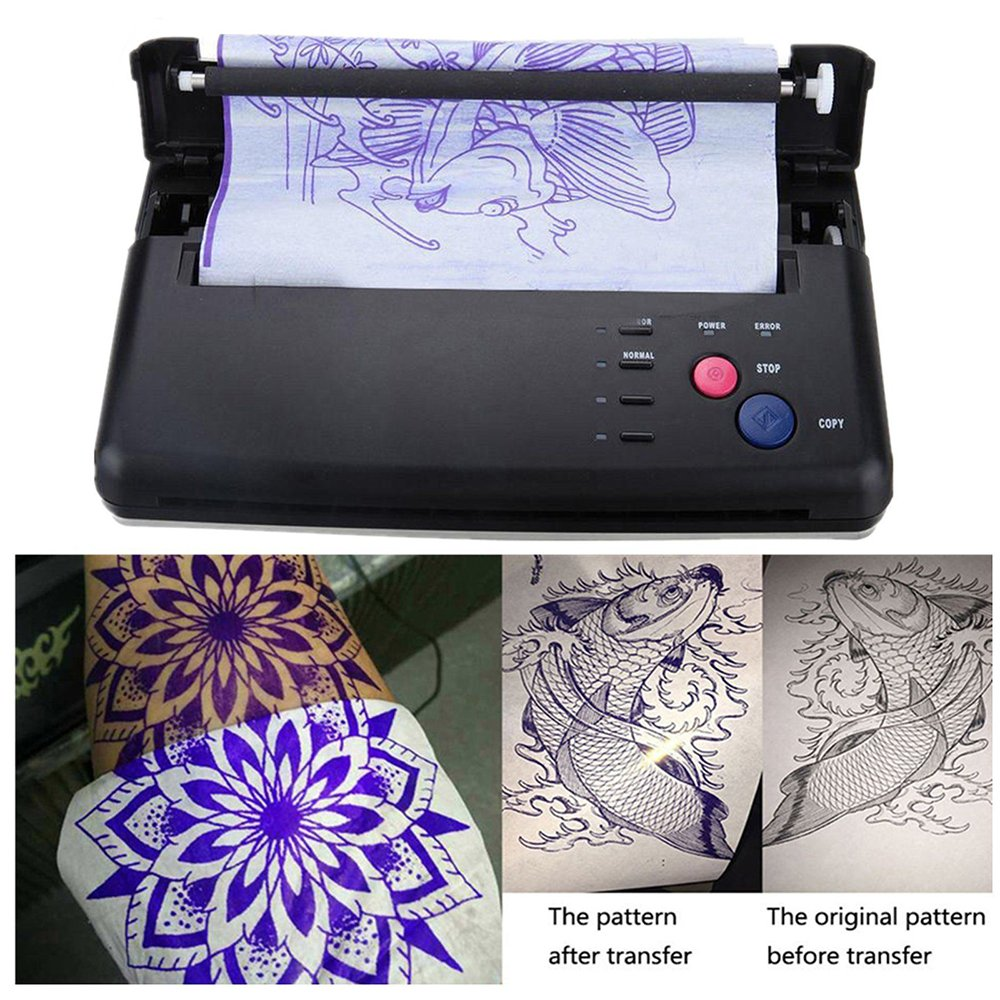 Professional 50 Sheets Tattoo Transfer Paper Tattoo Supplies Thermal Stencil Paper for Tattoo Transfer Machine Printer