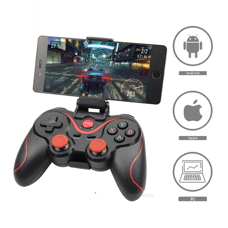 Wireless 3.0 Game Controller Terios T3/X3 For PS3/Android Smartphone Tablet PC With TV Box Holder T3