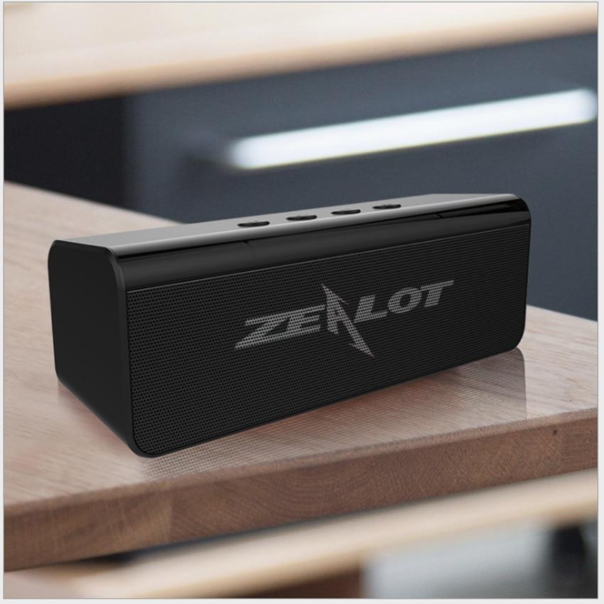 Zealot-مكبر صوت بلوتوث محمول ، مكبر صوت لاسلكي ، نظام صوت ستيريو ، موسيقى محيطية ، مكبر صوت خارجي مقاوم للماء