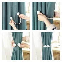 1pcs pearl magnetic curtain clip curtain tieback buckle clips hanging ball buckle tie back curtain accessories home decor white