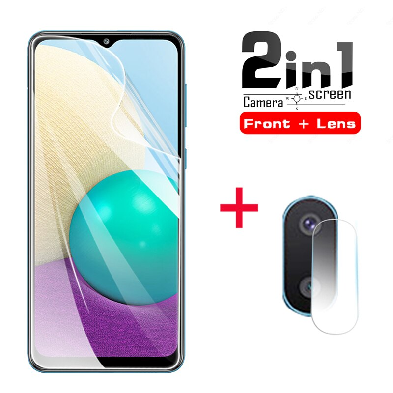 2in1 Full cove Front screen protector for Samsung Galaxy A02 A01 Safety Phone Hydrogel Film for sams