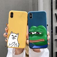 Чехол для iPhone 11 12 Pro Max Mini XR Xs 6 6s 7 8 Plus SE2 2020 пять цветов красный зеленый желтый синий Забавный крутой чехол с мемом из ТПУ