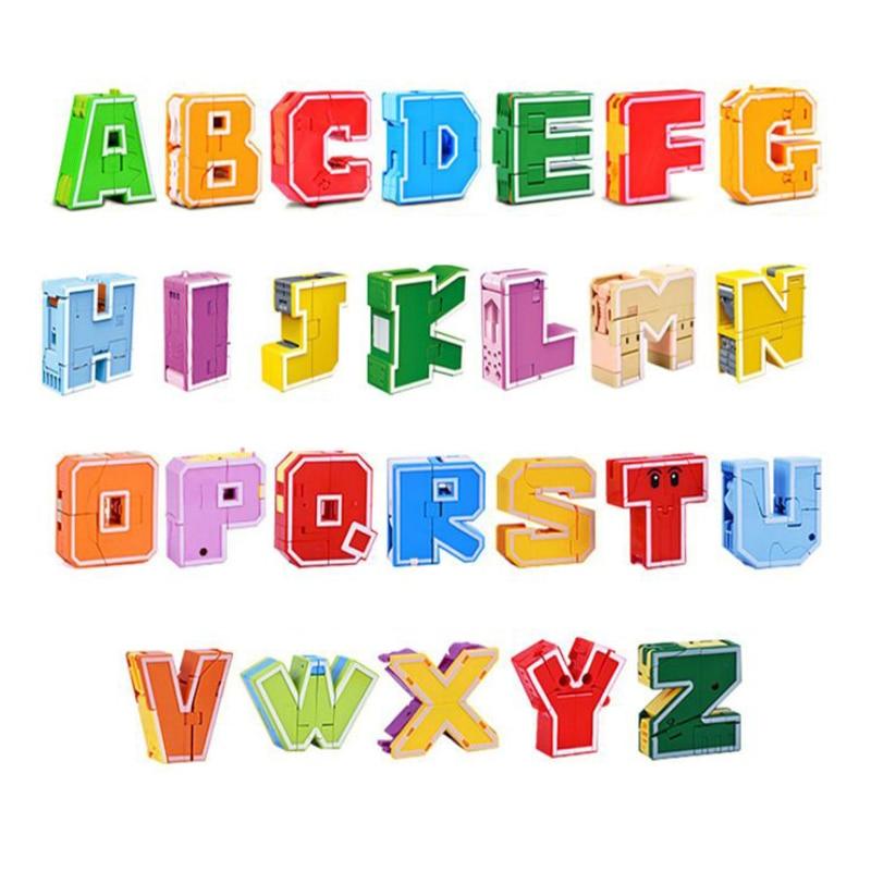 Игрушки-динозавры, 26 букв, обучаемые слова, трансформер, Комбинируемый динозавр, роботы, алфавит, игрушки для детей, подарки, игрушка-робот