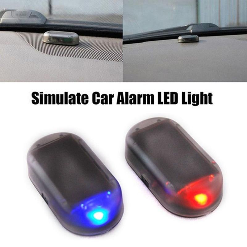 Car Security Light Solar Powered Simulated Dummy Alarm Wireless Warning Anti-Theft Caution Lamp LED