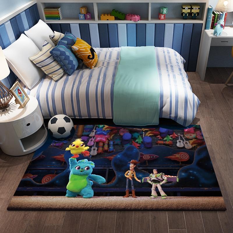 Cartoon Toy Story Carpet Kids Playmat Living Room Floor Mat Bedroom Non-slip Blanket  Bedroom Bedside  Floor Pad Door Mat Gift 55x40 cm cartoon shiba inu carpet dog sleeping mat living room mat toy for bedroom