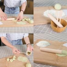 2019 3 Pcs/set Wooden Dumplings Tools Set Wooden Dumpling Stuffing Spoon Dumpling Stick Rolling Pin Flour Kitchen Tool Set