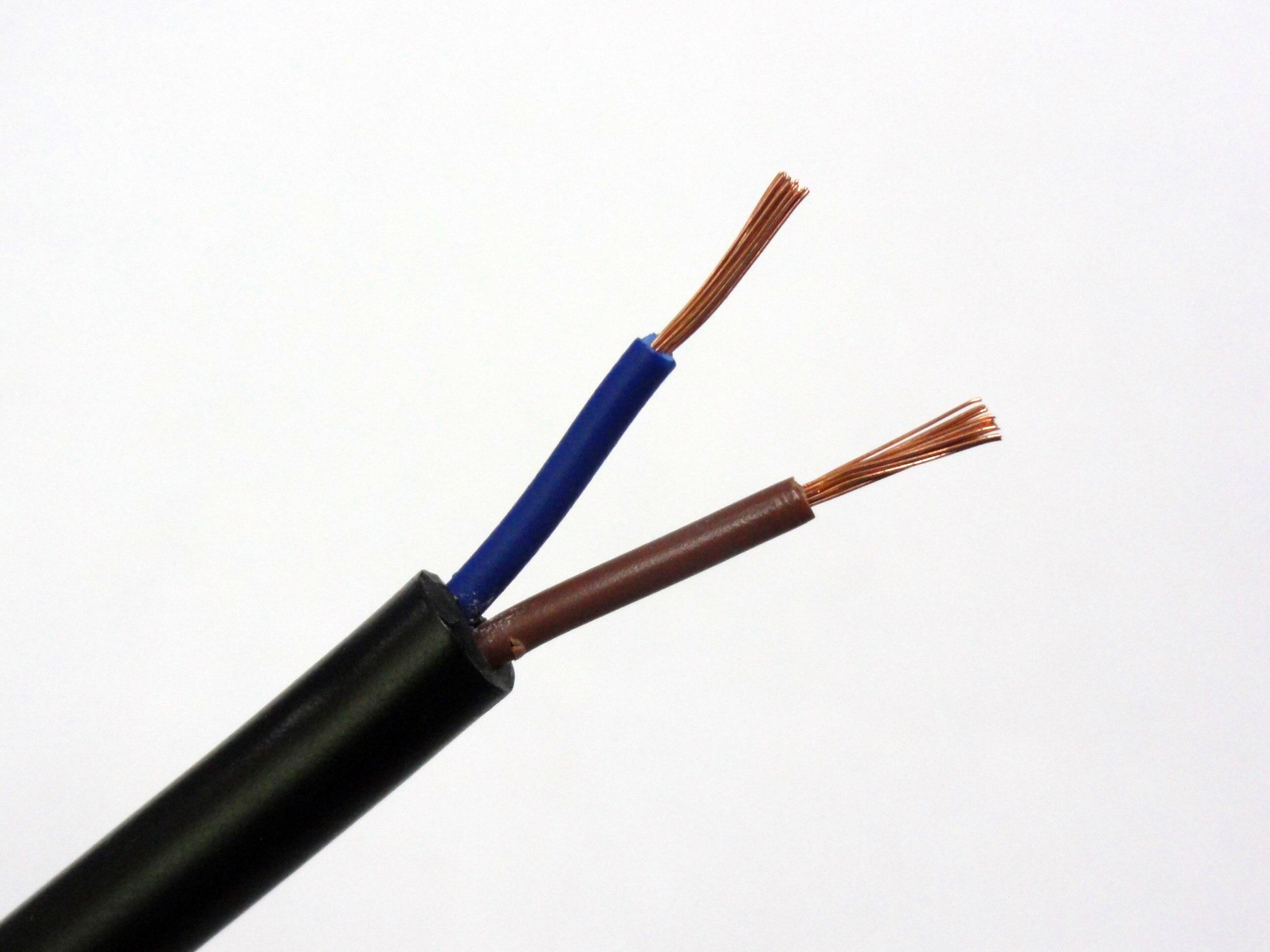 Cable TRIUMPHCABLE/SHENGPAI negro de alta flexibilidad 1/2M RVV 1,0mm 2/3/4/5 núcleos hilo...