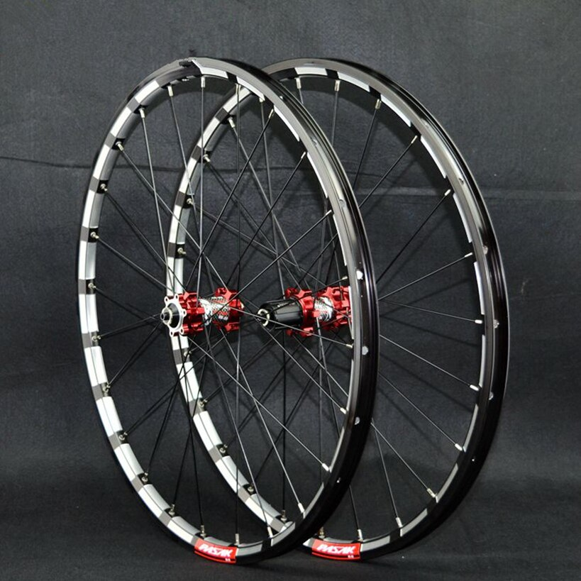 PASAK MTB bicicleta de montaña fresadora trilateral CNC cojinete cubo rueda ultra ligera juego de llantas