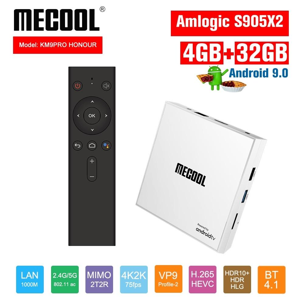 Mecool nuevo KM9 PRO Señoría Android 9,0 Tvbox 4 + 32G Tv box Amlogic S905X2 Quad core caja de tv 2,4G/5G WiFi IEEE Bluetooth 4,1