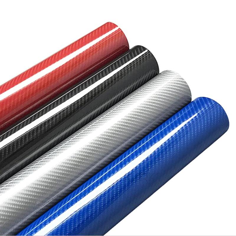 30x100cm 5D High Glossy Carbon Fiber Vinyl Wrap Film Auto Car Truck Interior DIY Decoration Sticker Protector Film Accessories