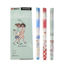 Gel-ink pens 0.5mm black cartoon style  school gel pen 2pcs/lot