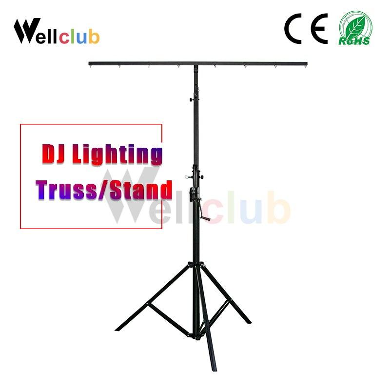 Iluminación de DJ braguero portátil, 1 unidad, barra en T, trípode con iluminación, soporte (capacidad de 132 lb)