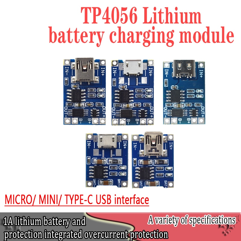 Умная электроника 5 в type-c Micro USB 1A 18650, за