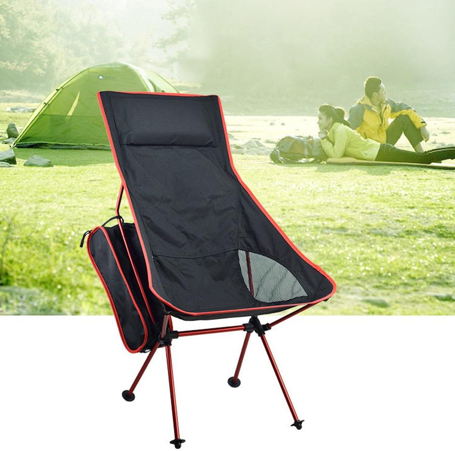 Silla plegable superdura de alta carga, silla de exteriores para acampar, portátil, playa, senderismo, asientos para Picnic, herramientas de pesca, silla